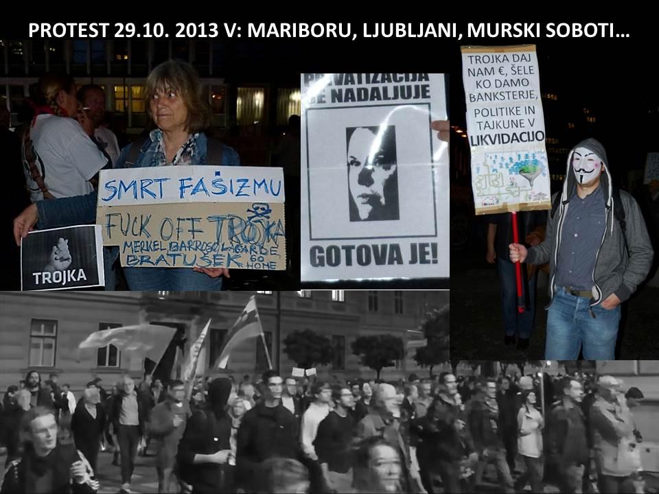 PROTEST PROTI OBLASTI 29. 10. 2013